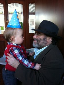 Charlie and my Dad, on his first birthday.